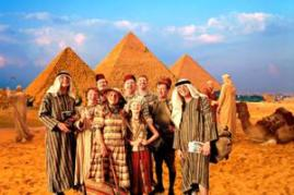Weasleys at the Pyramids