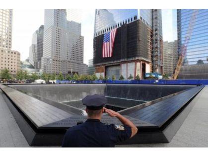 Saluting Trade Center Memorial