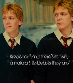 Twins with Kreacher Quote