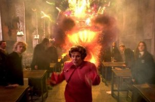 Umbridge flees fireworks
