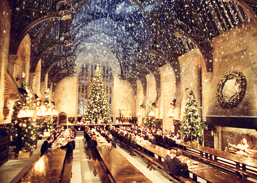 Image result for hogwarts christmas